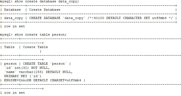数据库初始化的表