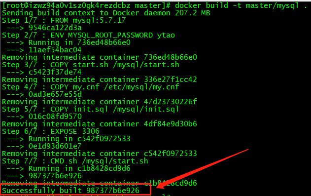Dockerfile构建成功