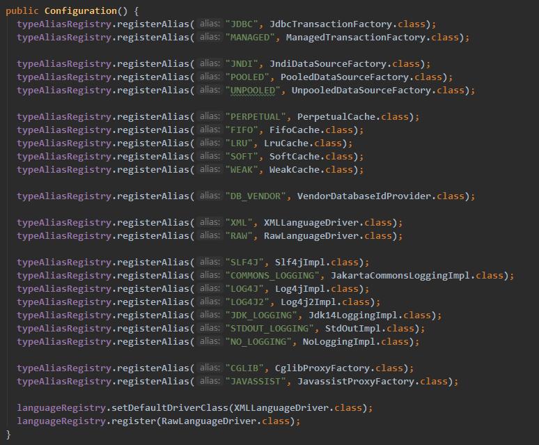 new Configuration()